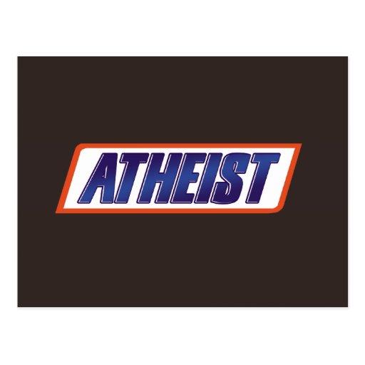 Parodia atea del ateísmo postal
