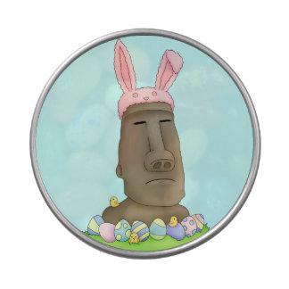 Parodia del conejito de la isla de pascua jarrones de caramelos