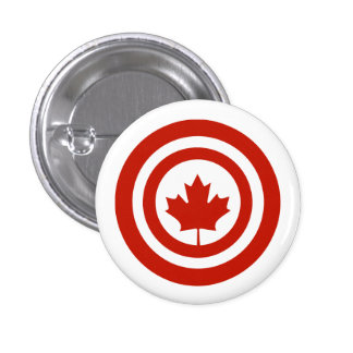 Parodia del escudo del super héroe de capitán pin redondo 2,5 cm