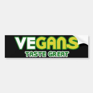 Parodia del gusto de los veganos gran pegatina para auto
