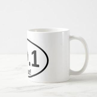 Parodia del pegatina del maratón taza