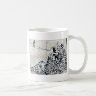 Parodia del sabio chino por Okumura Masanobu Tazas De Café