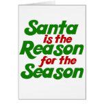 Parodia divertida del humor del navidad de Santa Felicitaciones
