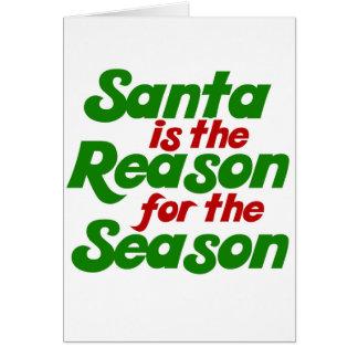 Parodia divertida del humor del navidad de Santa Tarjeta De Felicitación