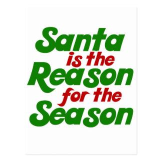 Parodia divertida del humor del navidad de Santa Tarjeta Postal