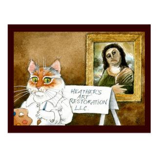 Parodia española del fresco de la restauración del postales