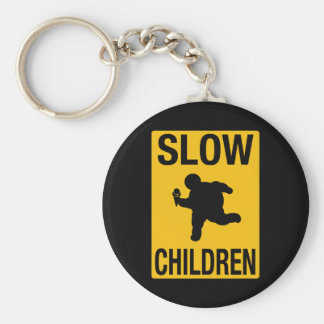 Parodia gorda de la placa de calle del niño de los llavero redondo tipo pin