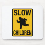 Parodia gorda de la placa de calle del niño de los alfombrilla de ratón