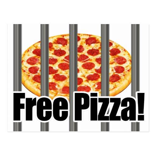 Parodia libre divertida de la pizza postales