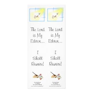 Parodia para los escritores - señal doble del salm diseños de tarjetas publicitarias