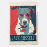 Parodia política de la esperanza de Jack Russel Toallas De Cocina