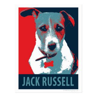 Parodia política de la esperanza de Jack Russel Postal