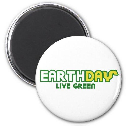 Parodia verde viva del Día de la Tierra Imán De Nevera