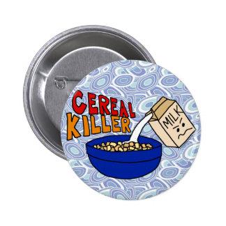 Parody Cereal Killer Breakfast Food Humor Pins