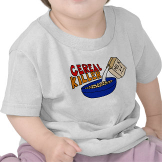 Parody Cereal Killer Breakfast Food Humor T-shirts