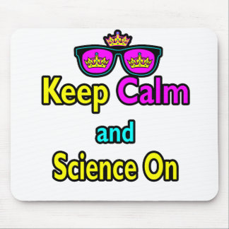 Parody Crown Sunglasses Keep Calm And Science On Mouse Pad