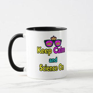 Parody Crown Sunglasses Keep Calm And Science On Mug