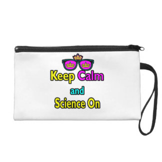 Parody Crown Sunglasses Keep Calm And Science On Wristlet