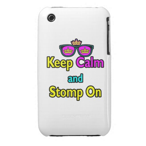 Parody Hipster Keep Calm And Stomp On Case-Mate iPhone 3 Cases