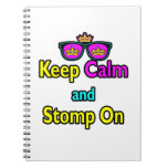 Parody Hipster Keep Calm And Stomp On Notebooks