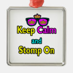 Parody Hipster Keep Calm And Stomp On Ornaments