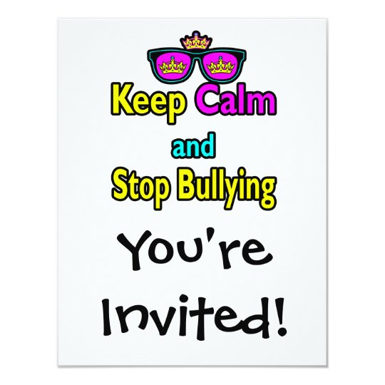 Parody Hipster  Keep Calm And Stop Bullying Card