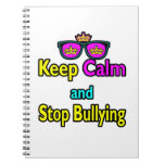 Parody Hipster  Keep Calm And Stop Bullying Note Book