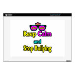 """Parody Hipster  Keep Calm And Stop Bullying 15"""" Laptop Skin"""