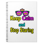 Parody Hipster Keep Calm And Stop Staring Notebooks