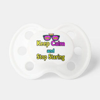 Parody Hipster Keep Calm And Stop Staring Pacifier
