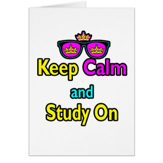 Parody Hipster Keep Calm And Study On Card