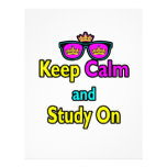 Parody Hipster Keep Calm And Study On Flyers