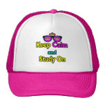 Parody Hipster Keep Calm And Study On Trucker Hat