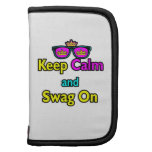 Parody Hipster  Keep Calm And Swag On Folio Planner