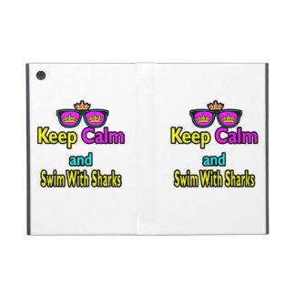 Parody Hipster  Keep Calm And Swim With Sharks iPad Mini Covers