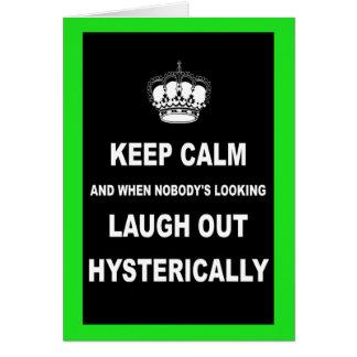 Parody keep calm and carry on card