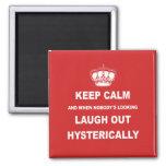 Parody keep calm and carry on fridge magnet