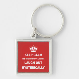 Parody keep calm and carry on keychain