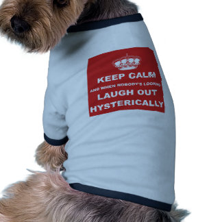 Parody keep calm and carry on pet t shirt