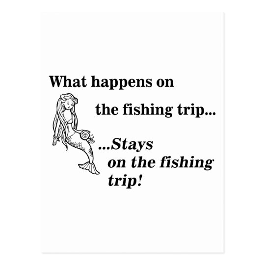 Parody: What Happens On The Fishing Trip Postcard