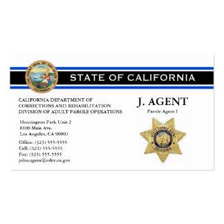 Parole Agent Business Card - Thin Blue Line