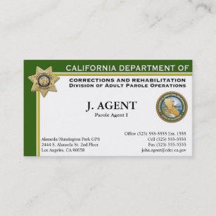 Law enforcement business cards zazzle parole agent business card colourmoves