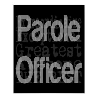 Parole Officer Extraordinaire Poster