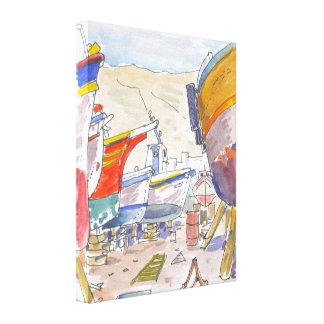 Paros Greece Canvas Gallery Wrapped Canvas