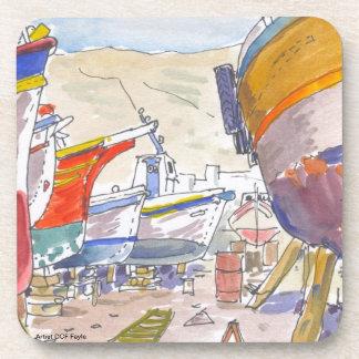Paros Greece Coasters