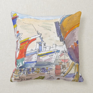 Paros Greece Throw Pillow