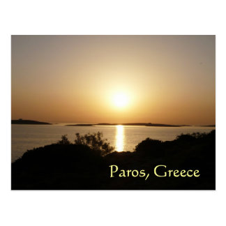Paros Island, Greece At Day's End Sunset Postcard