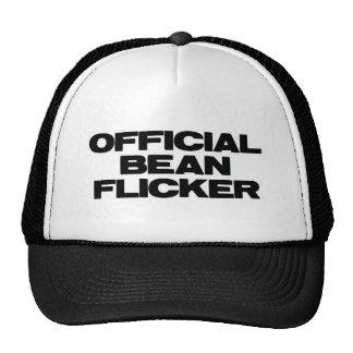 Parpadeo oficial de la haba gorras de camionero