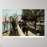 Parque 1906 de la orilla e impulsión, New York Cit Poster