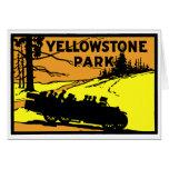 Parque 1920 de Yellowstone Felicitación